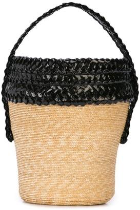 Gigi Burris Millinery Woven Basket Bag