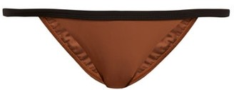Matteau - The Petite Bikini Briefs - Womens - Black Brown