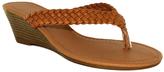 Fashion Focus Tan Braided Kava Wedge Sandal