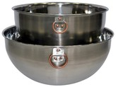 Threshold Stainless Steel Mixing Bowl Set of 2 with Copper Ring