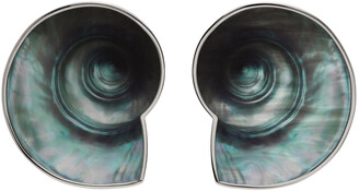 Jean Paul Gaultier SSENSE Exclusive Silver Marvin M'Toumo Edition Coquillage Earrings