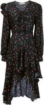 Preen by Thornton Bregazzi Floral Print Ruffled Hem Dress