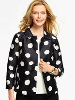 Talbots Painted-Dot Jacquard Jacket