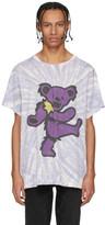 Amiri Purple Tie-Dye Grateful Dead Bear T-Shirt