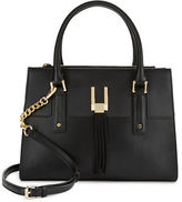 Calvin Klein Fringe-Accented Leather Satchel