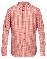 Raf Simons Oversized Gingham Cotton-poplin Shirt