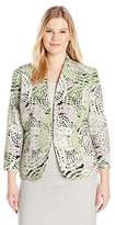 Kasper Women's Petite Size Printed Cardigan Jacket