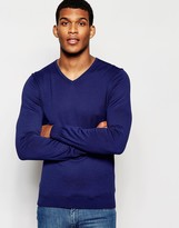 United Colors Of Benetton 100% Cotton Knitted V Neck Jumper