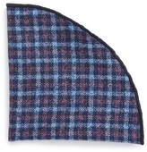 Alexander Olch Men's 'Francisco' Check Wool Pocket Round