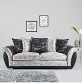Alexa Fabric and Faux Leather 3 Seater+ 2 SeaterScatter Back Sofa Set (Buy and SAVE!)