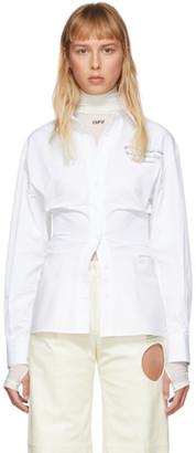 Off-White White Draped Sleeves Shirt