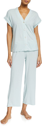 UGG Addi V-Neck Short-Sleeve Jersey Pajama Set