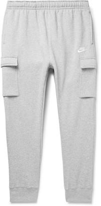 Nike Sportswear Club Slim-Fit Tapered Fleece-Back Cotton-Blend Jersey Cargo Sweatpants