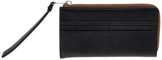 Burberry Black Leather Zip Around Wallet