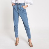 River Island Blue high rise tapered leg jeans