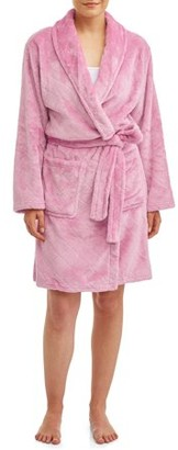 The Cozy Corner Women's 3/4 Length Plush Body Robe