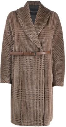Fabiana Filippi Houndstooth Belted Coat