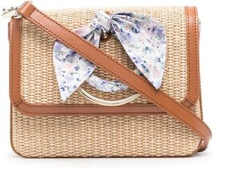 Ermanno Ermanno Woven Knot-Detail Shoulder Bag