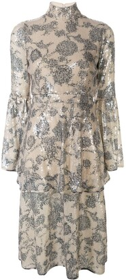 Cynthia Rowley Michelle sequin tiered dress