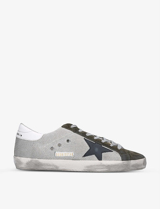 Golden Goose Superstar suede and mesh low-top trainers