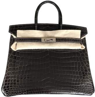 Hermes Birkin 25 Anthracite Crocodile Handbags