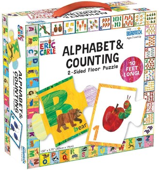 University Games Eric Carle Alphabet & Counting Floor Puzzle