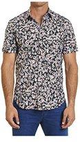 Robert Graham Men's Squared Daisy Short-Sleeve Button-Down Shirt