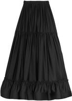Black Silk Maxi Skirt - ShopStyle