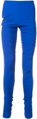 Walter Van Beirendonck Blitz patch detail leggings