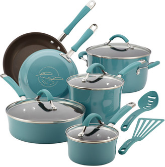 Rachael Ray Cucina Porcelain Aluminum 12Pc Cookware Set
