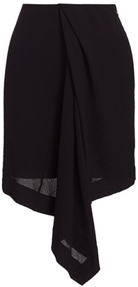 Nina Ricci Draped Asymmetric Skirt
