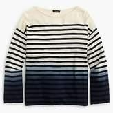 J.Crew Crewneck sweater in dip-dye stripe