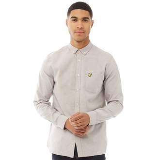 Lyle & Scott Vintage Mens Oxford Long Sleeve Shirt Urban Grey