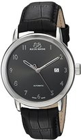 88 Rue du Rhone Men's 'Double 8 Origin' Swiss Automatic Stainless Steel and Leather Dress Watch, Color:Black (Model: 87WA154212)