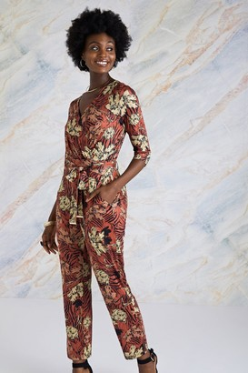 Yumi Rust Animal Jumpsuit