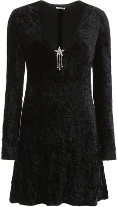 Miu Miu Velvet Mini Dress