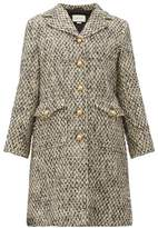 Gucci GG-martingale Wool-blend Tweed Coat - Womens - Black Multi