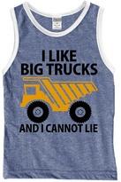 Urban Smalls Heather Blue 'I Like Big Trucks' Tank - Toddler & Boys