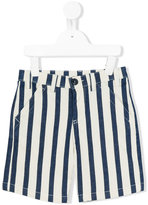 Moncler striped denim shorts