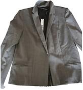 Elie Tahari Grey Wool Jacket for Women