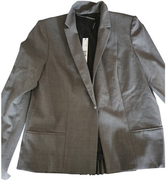 Elie Tahari Grey Wool Jacket for Women