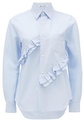 Comme des Garçons Comme des Garçons Ruffled Cotton Shirt - Light Blue