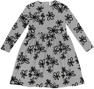 Il Gufo Flocked stretch-cotton dress