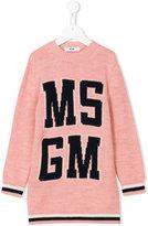 MSGM knitted logo dress