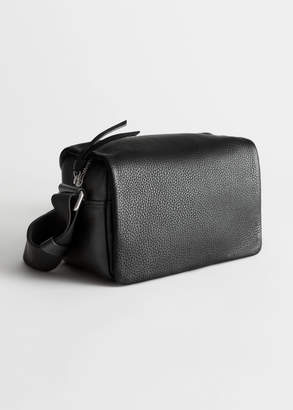 And other stories Technical Strap Leather Crossbody Bag