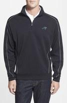 Cutter & Buck Men's Big & Tall 'Carolina Panthers - Edge' Drytec Moisture Wicking Half Zip Pullover