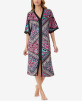 Ellen Tracy Zip-Front Caftan Nightgown