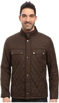 Rainforest Diamond Quilted Bomber Jacket