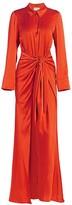 Cinq à Sept Maddy Tie-Waist Silk Shirt Gown