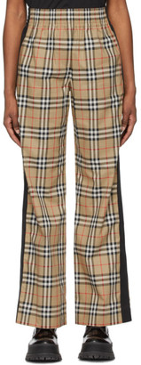 Burberry Beige Cotton Vintage Check Trousers